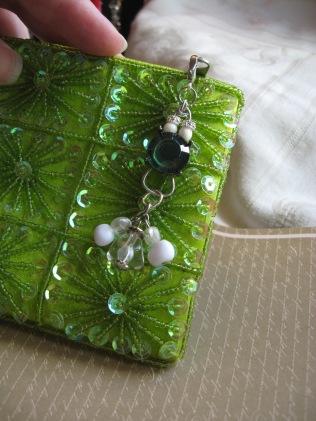 Antique Button Zipper Pull for Wallet or handbag