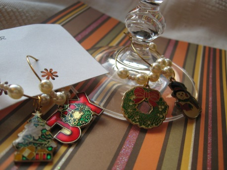 Holiday Wine Charm Set (Set of 4)