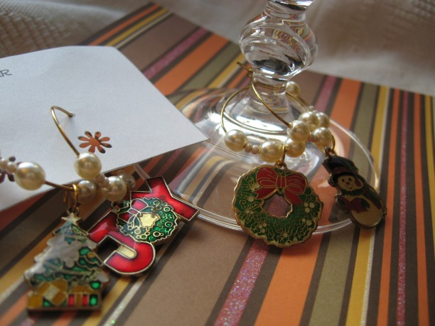Holiday Wine Charm Set (Set of 4)